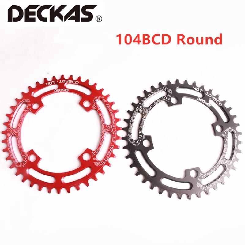 DECKAS Plateau Rond en Aluminium 104 BCD 40T//42T//44T//46T//48T//50T//52T