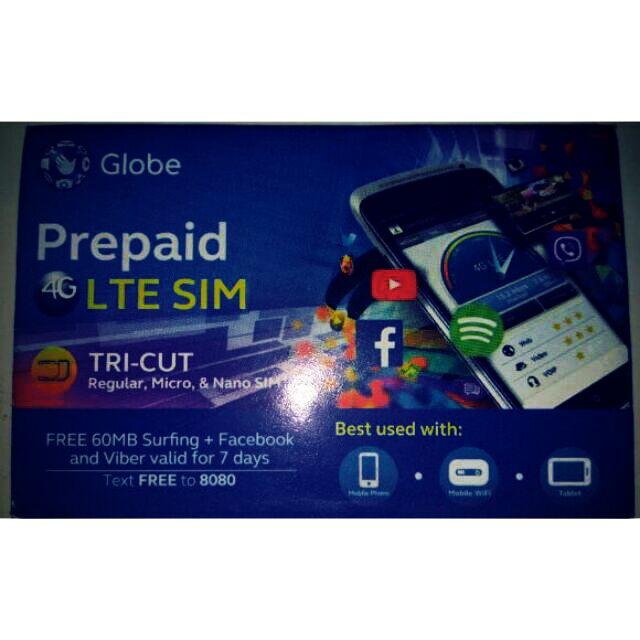 Globe Prepaid Sim -FRESH