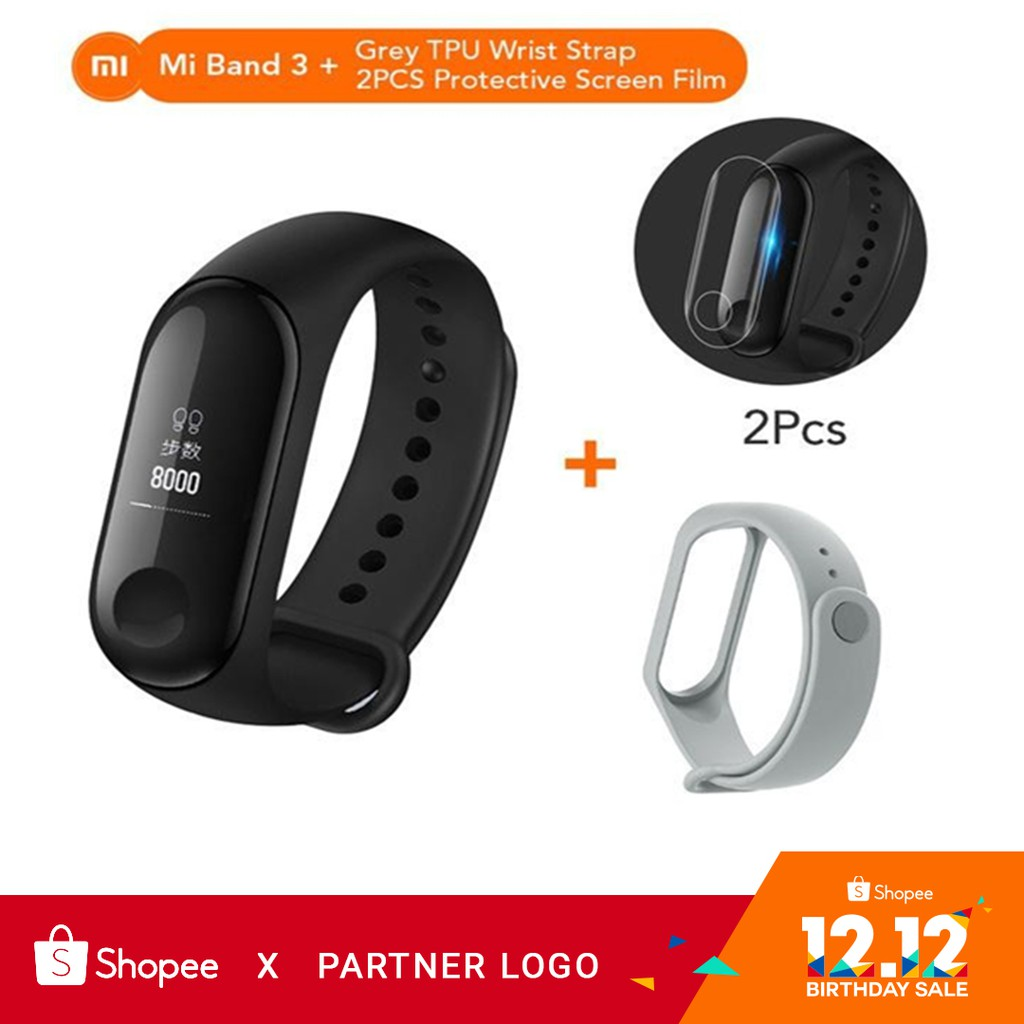 Original Xiaomi Mi Band 2 Smart Watch Oled Bluetooth Shopee Black Free Screen Guard Pcs Philippines