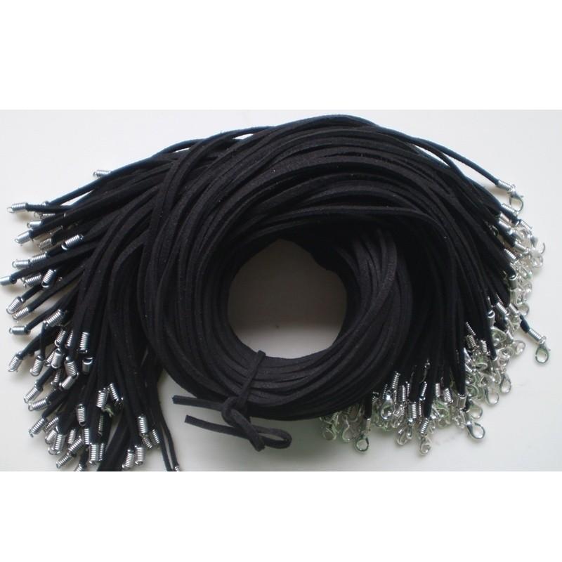 Rose Bulk lot 10 pcs Suede Leather String 50cm Necklace Cords