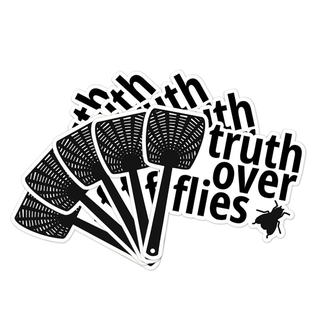 5//10PCS Creative Fly Swatter Pattern Truth Over Fly Sticker Car Decal Home Decor