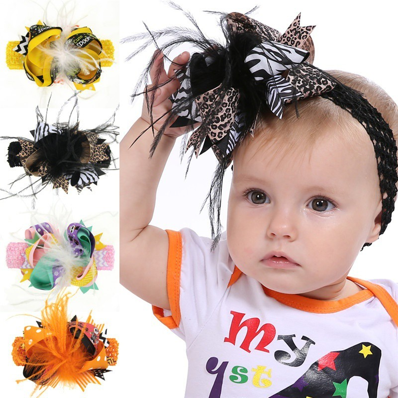 Unique Toddler Baby Girls Hair Clip Dot Bowknot Hairpin Headband Headwear