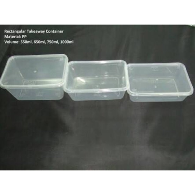 Microwavable Container Rectangular