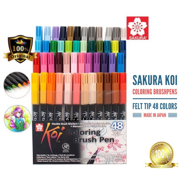 Sakura Koi Coloring Brush Pens 24/48 | Shopee Philippines