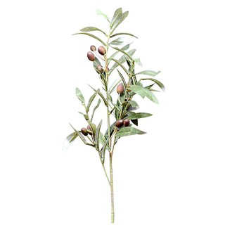 Artificial Olive Leaf Green Plants Fruits Branches Fake Leaves Home Decor