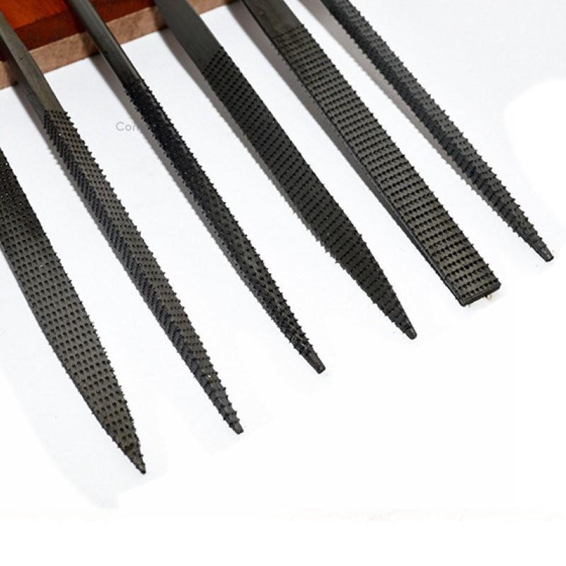 6pcs Mini Files Steel Filing Rasp Needle File Wood Woodworking Tools Kits KS