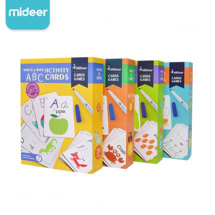 Mideer Early Education Flash Card Alphabet Digital Word Writing Cognitive Card