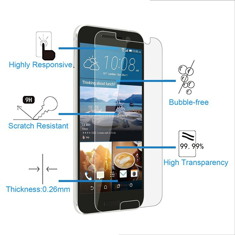 Tempered Glass Screen Protector Film For HTC X9 M8 One Max 8088 809D 8060 T6