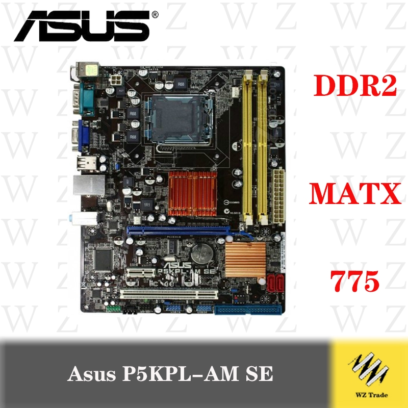 ASUS P5G41-M LE  LGA 775 Intel Motherboard w CPU E5700 and Heat Sink I//O