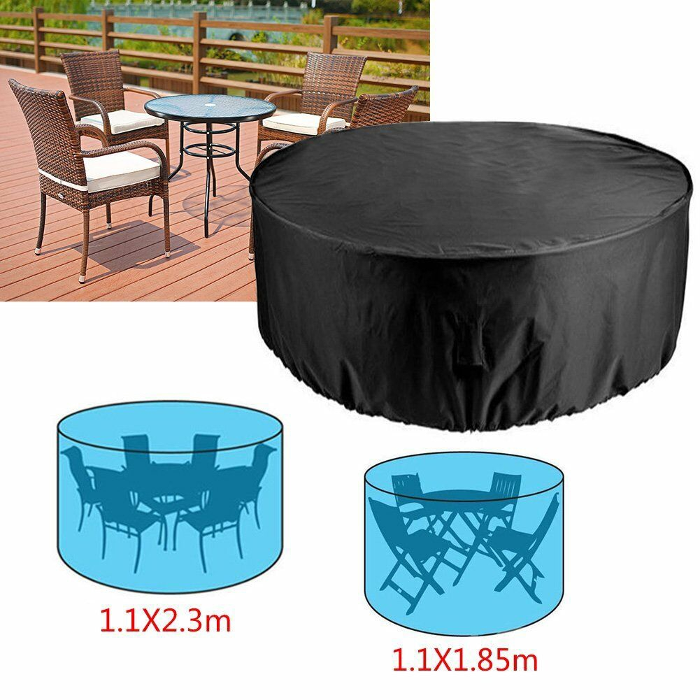Large Round Waterproof Table Chair Set