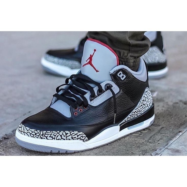 Crack 3 Black Nike Aj3 During Air Cement Jordan WIEH9D2