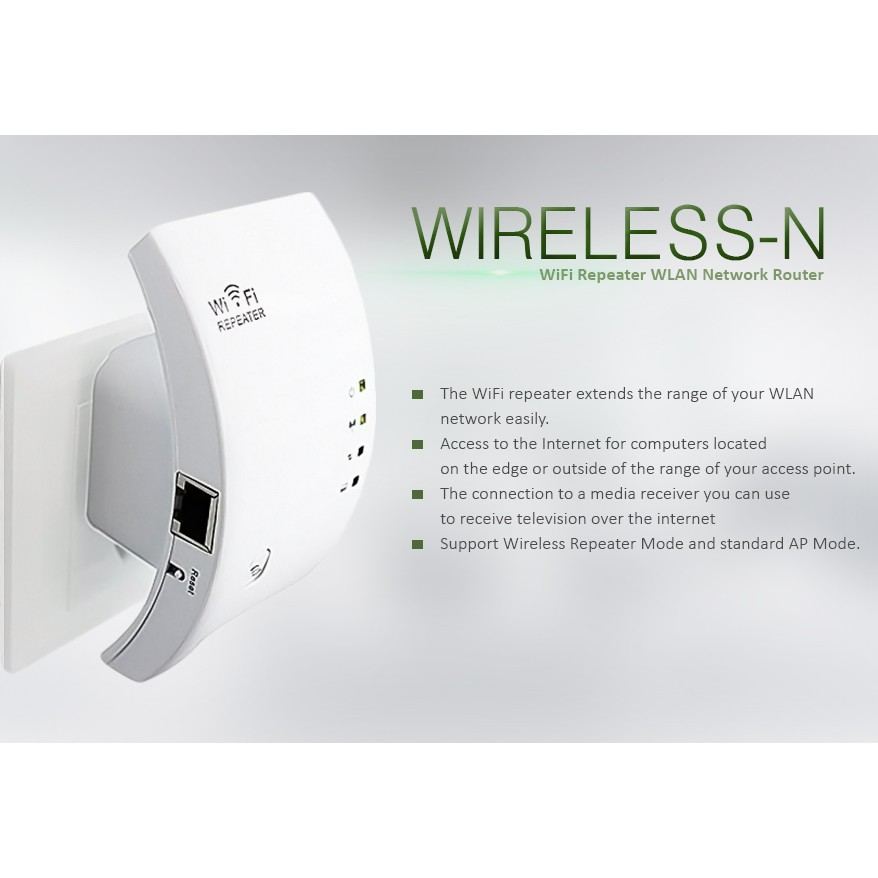 Wireless-N UNT-03 WiFi Repeater WLAN Network Router (White