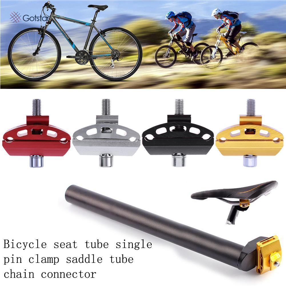 Aluminum Alloy Bike Bicycle Single Nail Seatpost Head Single Rod Head Seat Post