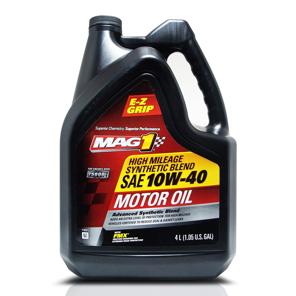 MAG 1 10W40 High Mileage Synthetic Blend Oil 1gal PN#64843