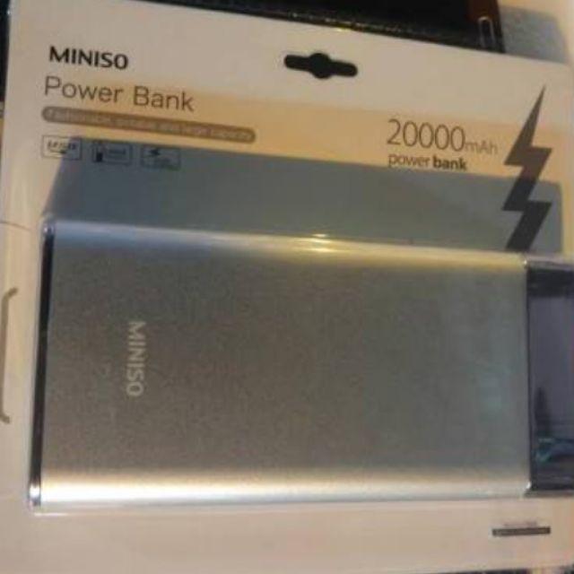 Authentic Miniso Power Bank 20 000mah Cod Shopee Philippines