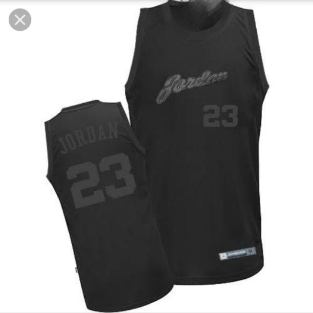 new arrival 86c1a 1b3f7 Men's Michael Jordan Black Jersey - Chicago Bulls 23