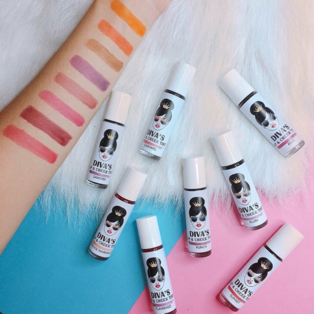 Lip Tint & Cheek Tint by Diva White (Buy 10 Get 1 Pouch)