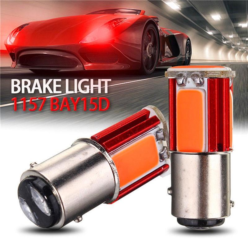 2 X BAY15D 1157 White Car Tail Stop Brake Light Ultra Bright 33SMD LED Bulb 12V