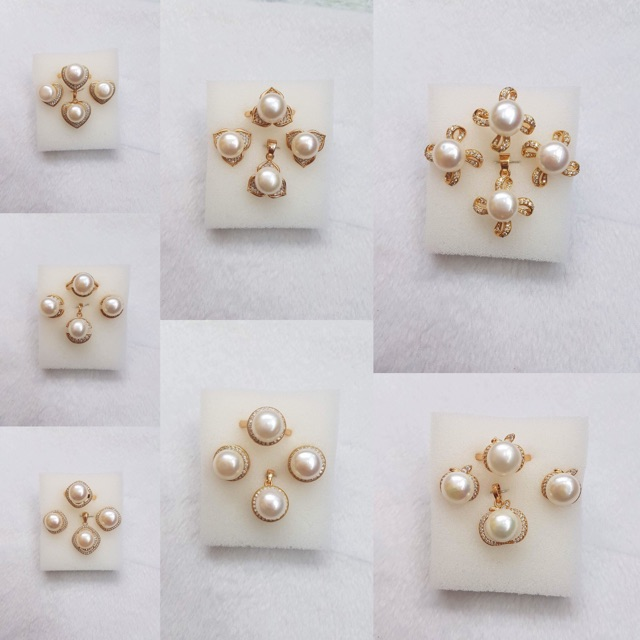 Freshwater Pearl Set Rose Gold Shopee Philippines