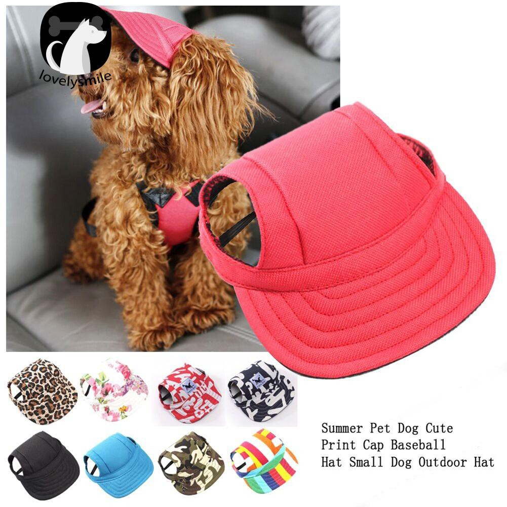 TAILUP Baseball Cap Summer Canvas Dog Small Pet Dog VisorHat ... b5bcdafc5256
