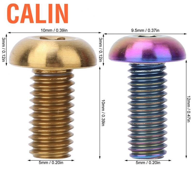 5pcs Titanium Alloy M5*12 Bicycle Water Bottle Cage Bolts M5*10 Disc Brak Screws