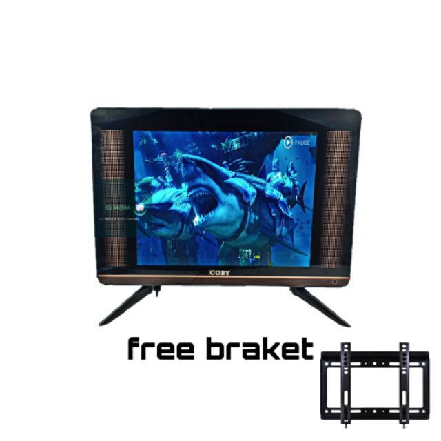 LED TV COBY 17INCHES W/GLASS SCREEN FREE WALL MOUNT