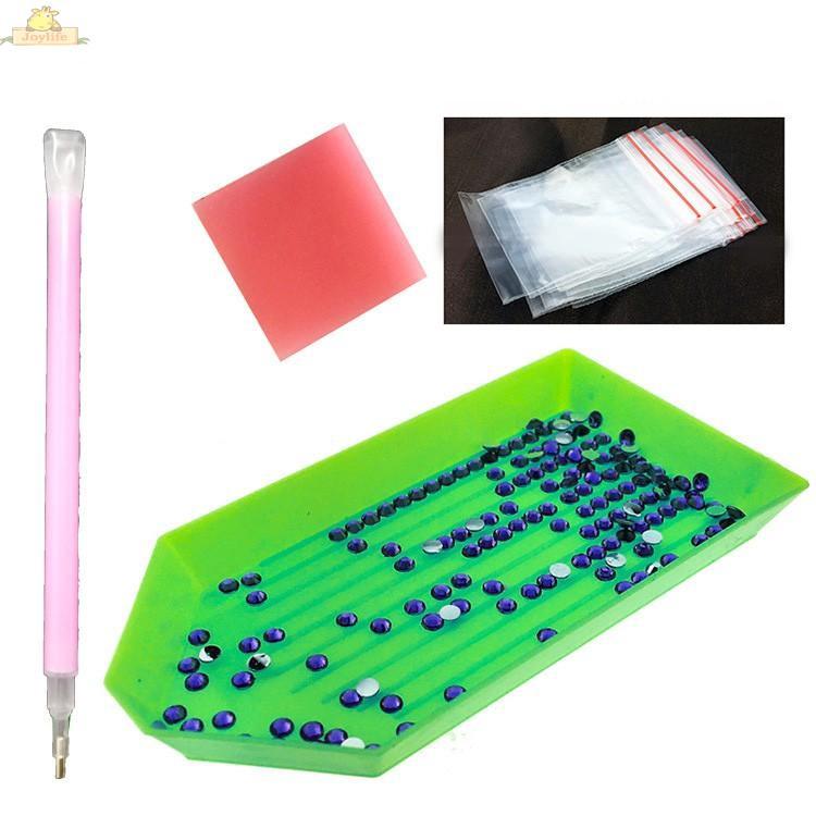 EE/_ EG/_ 40Pcs DIY Diamond Painting Tool Kits Plastic Plate Tweezers Pen Accessor