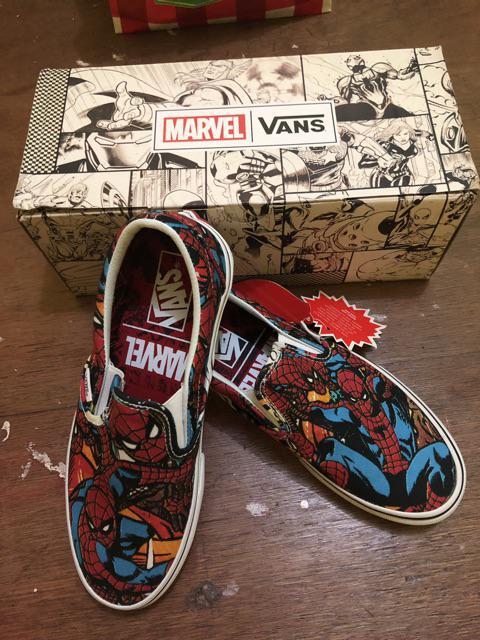 70a2e50d4 Vans Men's Classic Slip-On Mrvl Sneakers (Spiderman)   Shopee ...