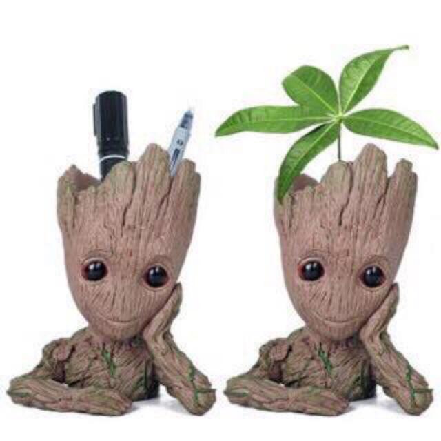 Baby Groot Action Figure Flower Pot And Pen Pot Holder