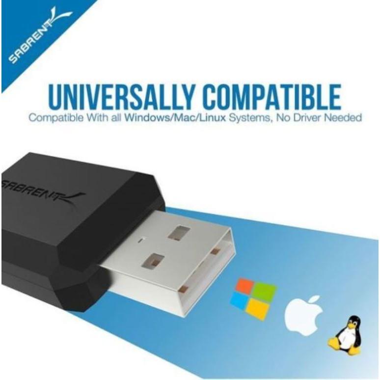Sabrent USB External 3D Stereo Sound Adapter Windows Mac