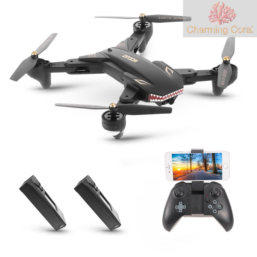 XS809S 2.4G RC Drones with 0.3MP Camera 4CH Foldable Mini Quadrocopter Headless Mode Altitude Hold WiFi FPV Drones