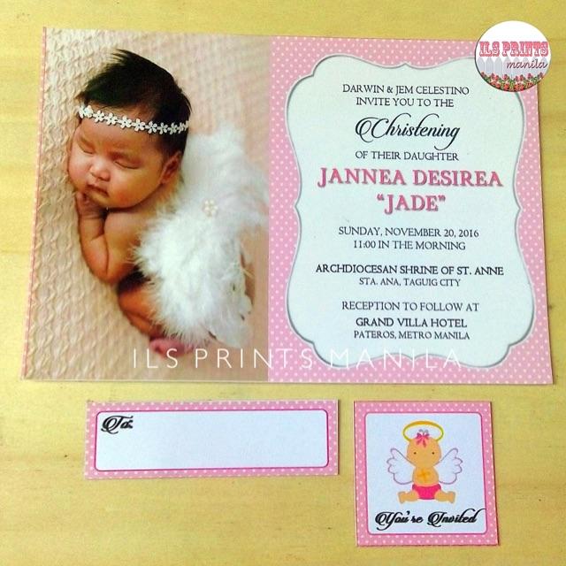 Baptism Christening Invitation Card Set