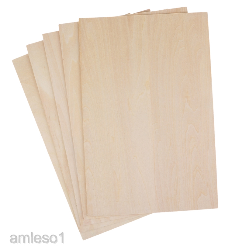 10x Unfinished Balsa Basswood for DIY Model Aircraft House Toy Woodworking