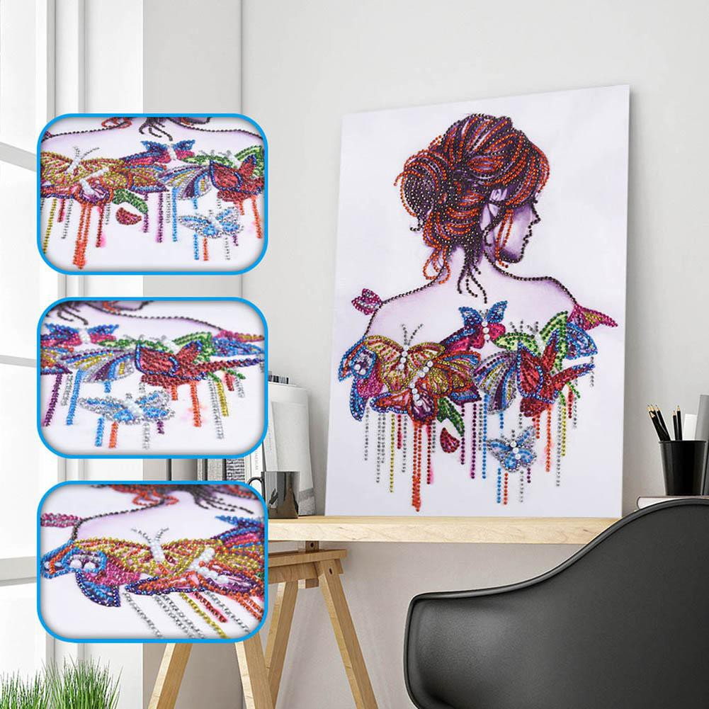 30*40cm 5D DIY Diamond Painting Art Beauty Cross Stitch Kits Embroidery Special