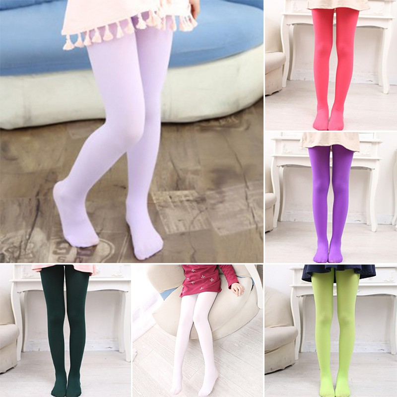 a5746b3b8cde3 Kids Girls Tights Lot Color Pantyhose Stockings Soft Stretch | Shopee  Philippines