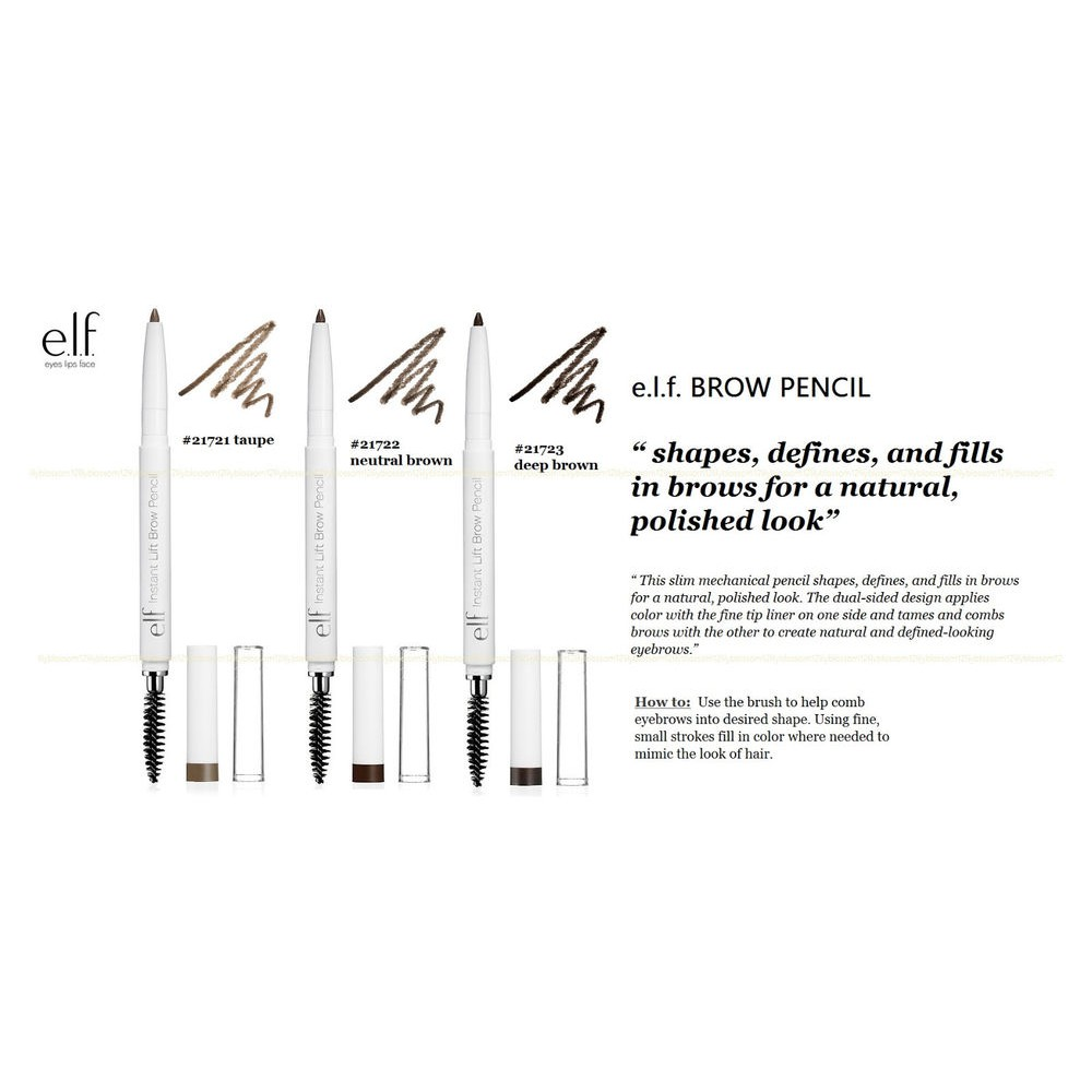 Authentic E.L.F. Brow Pencil - ELF Instant Lift Eyebrow ...