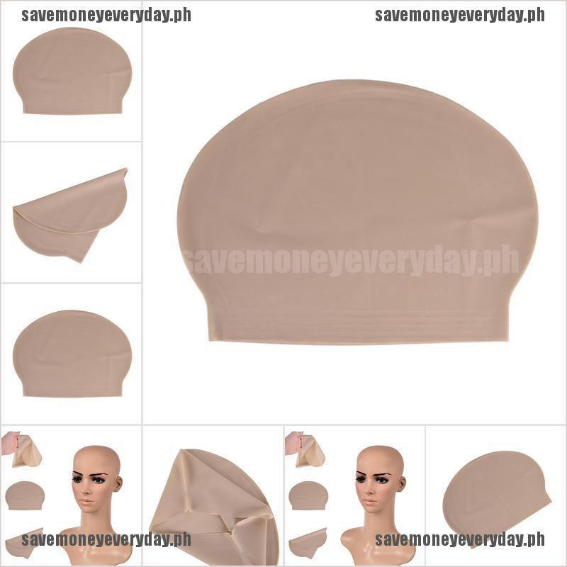 Unisex Fake Latex Flesh Skin Bald Head Wig Cap Halloween Skinhead Fancy Costume