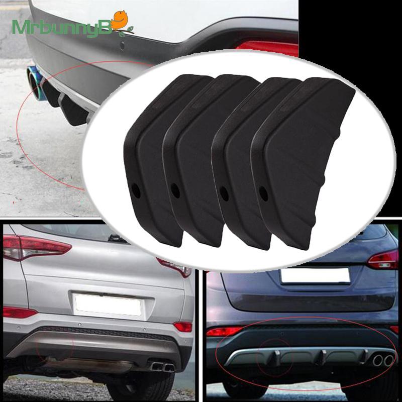 Protector Bumper Rear Spoiler 4Pcs Car Shark Fin Cover Anti-crash PVC 2018 Nice