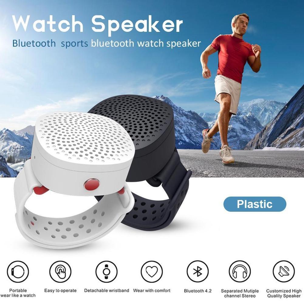 Bluetooth Speaker Wearable Portable Music Player Wireless Built-in  Microphone Bracelet Watch-style
