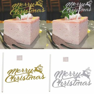 Christmas Cake Toppers.Merry Christmas Cake Toppers Set Birthday Party Decor Supplies