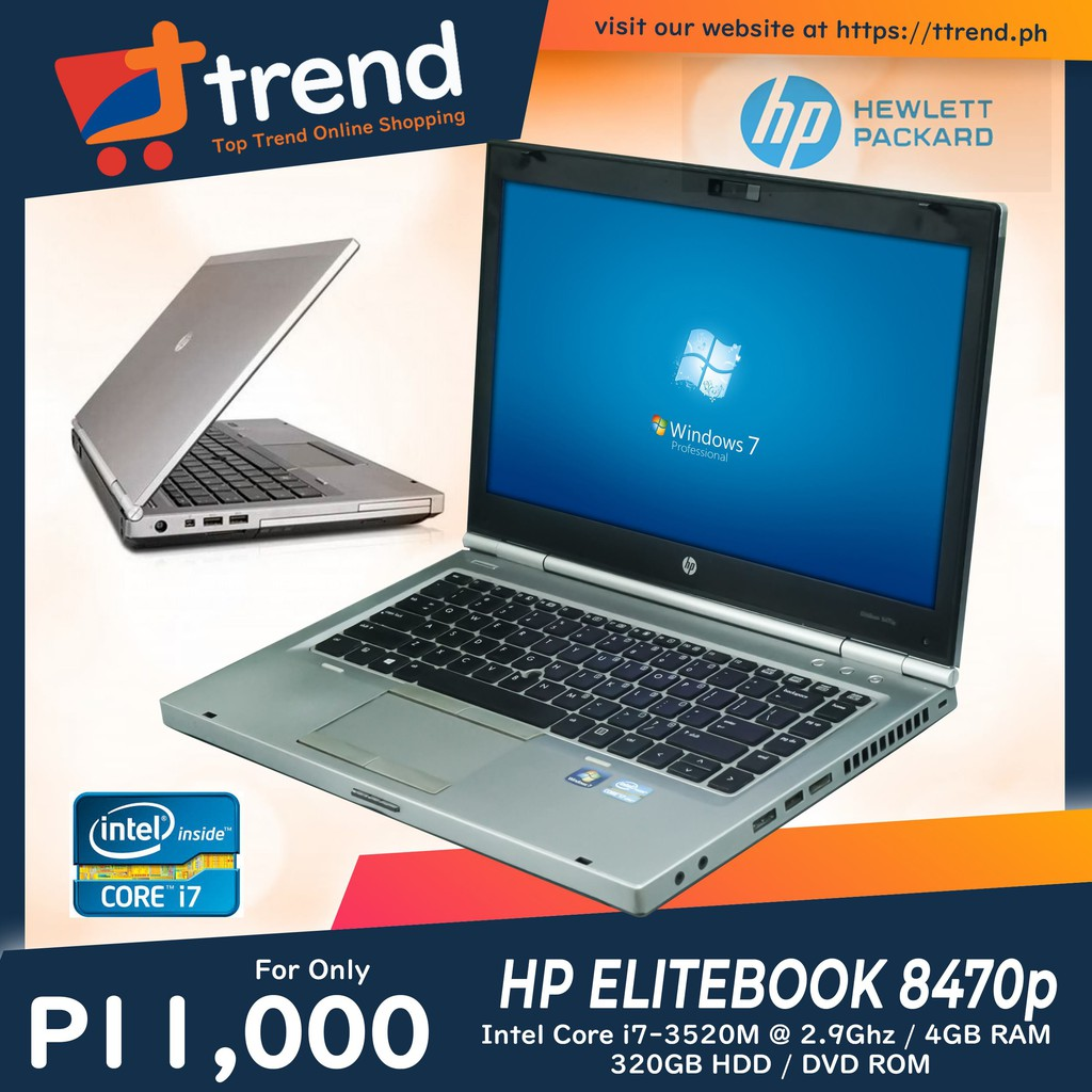 Hp Elitebook 8470p Intel Core I7 3rd Gen Notebook Laptop Shopee Philippines