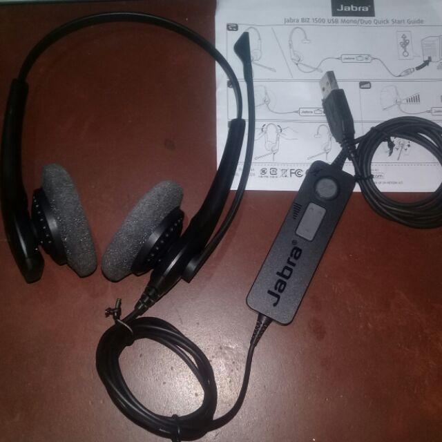 Jabra Biz 1500 Duo Usb Type Noise Cancellation Headset Used Shopee Philippines