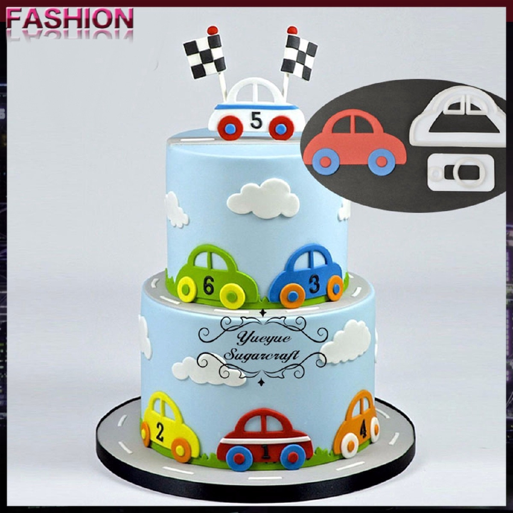 2pc Set Diy Sugarcraft Car Plastic Fondant Cutter Cake Mold Fondant Mold Fondant Cake Decorating Too Shopee Philippines