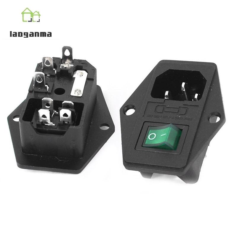 AC 10A 250V IEC320 C14 Inlet Module Plug Neno Lamp On/Off Bo Iec C Wiring Diagram on