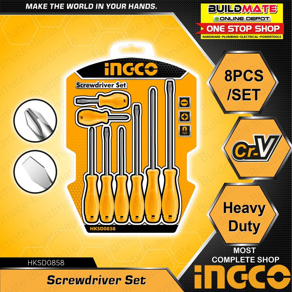 INGCO Screwdriver 8PCS/SET HKSD0858 •BUILDMATE•   Shopee Philippines