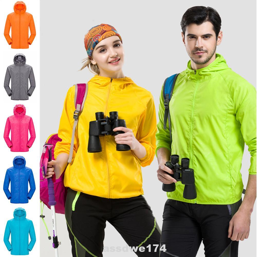 UK Waterproof Sunscreen Jacket Mens Womens Oversized Lightweight Rain Coat