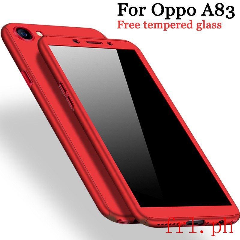 For Oppo A83 Case 360 Full Protection 【Free Tempered Glass】