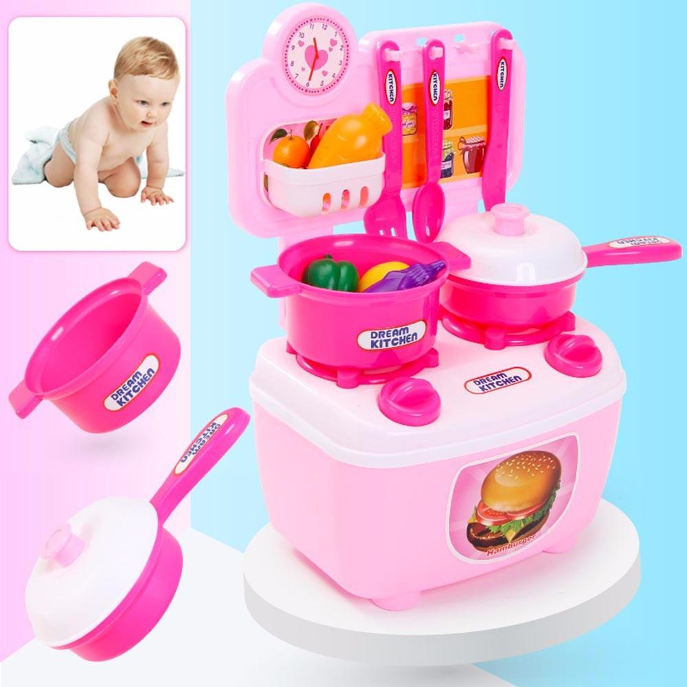 Children Gift Play Kitchen Set Kids Pretend Toy Cooking Food Toys