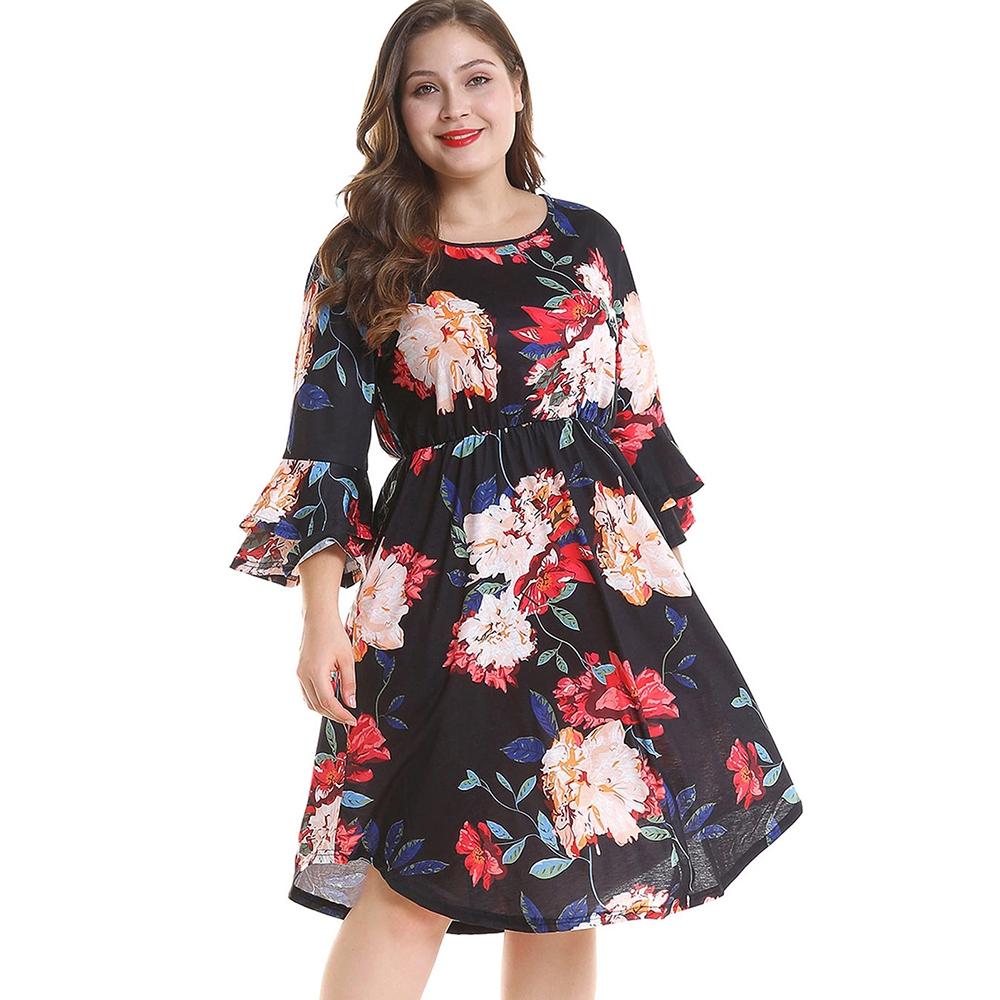 35ae0ef0481 ZAFUL Plus Size Mini Wrap Dress