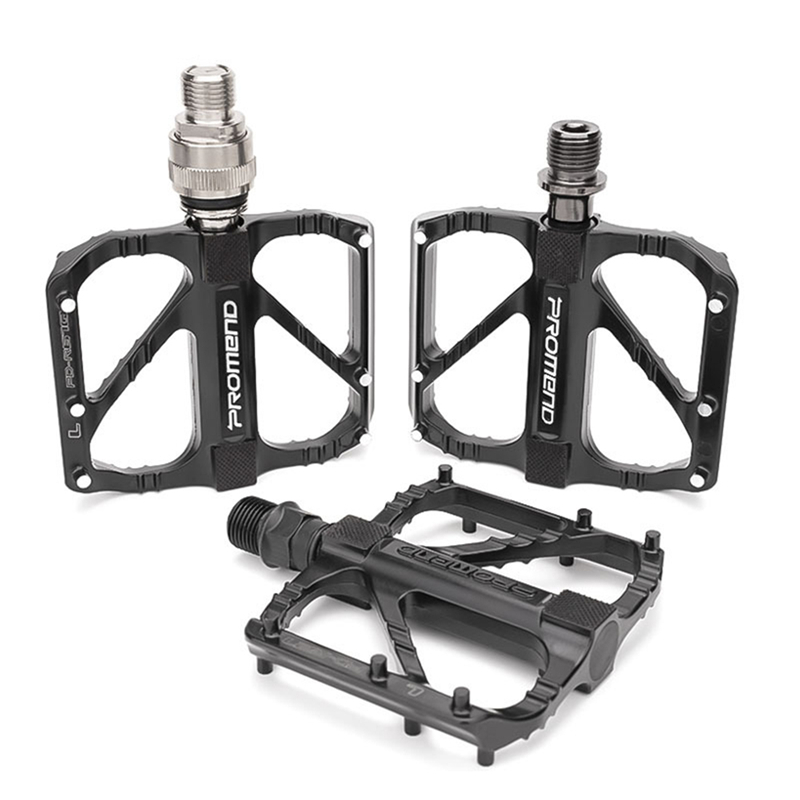 1 Pair Mountain Bicycle Bike Black Pedals Aluminium Alloy DU Sealed Bearing